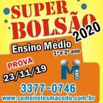 Bolsão Ensino Médio 2020 !
